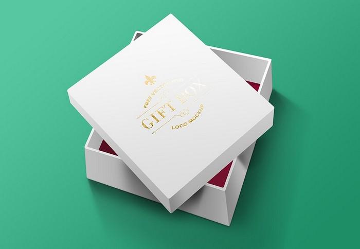 Gift Box PSD Mockup