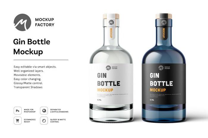 Gin Bottle Mockup Project