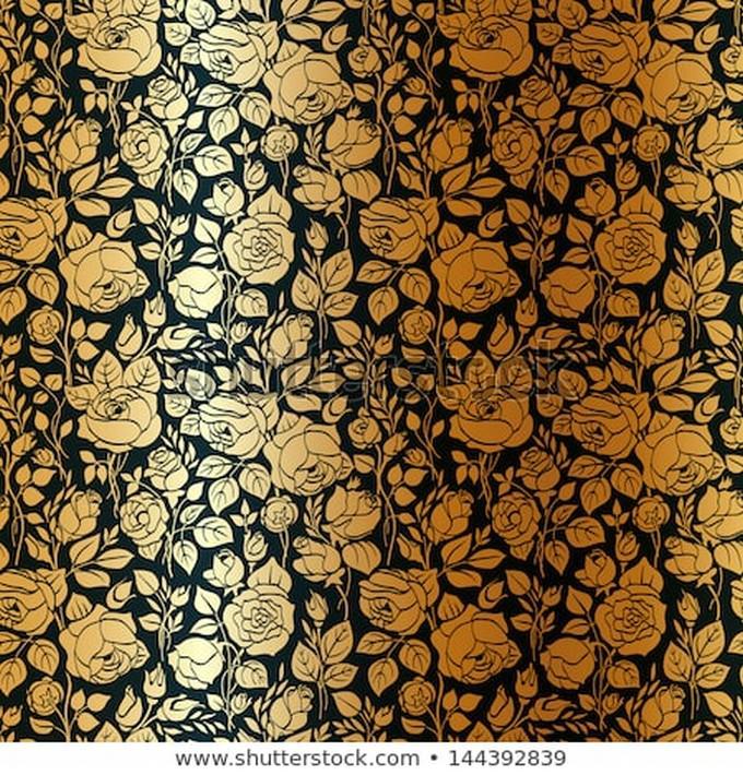 Gold Vintage Seamless Pattern