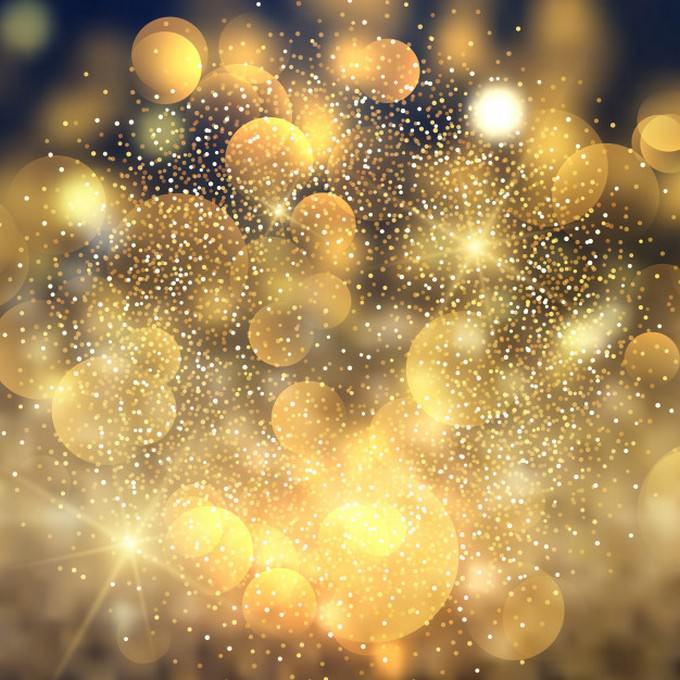 Golden Bokeh Lights Background