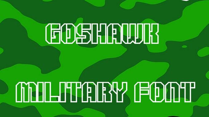 Goshawk Military Font