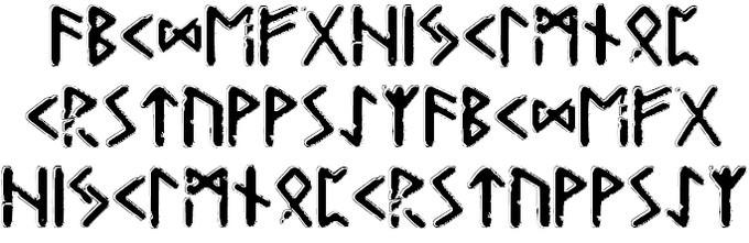 Gunfjaun Runic Viking Style Font