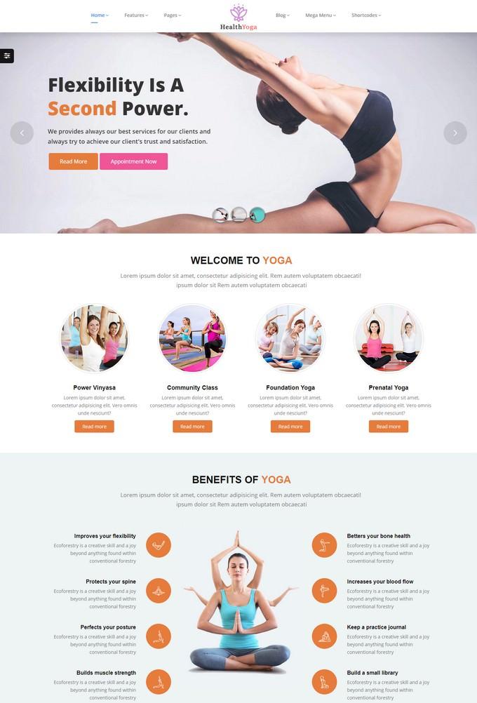 Health Yoga Fitness Theme