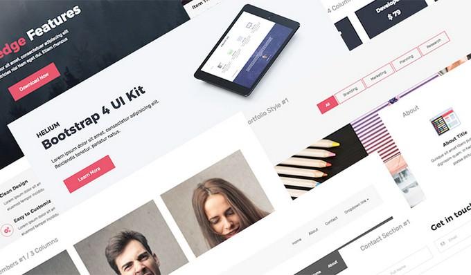 Helium UI Kit – Free Bootstrap 4 UI Kit