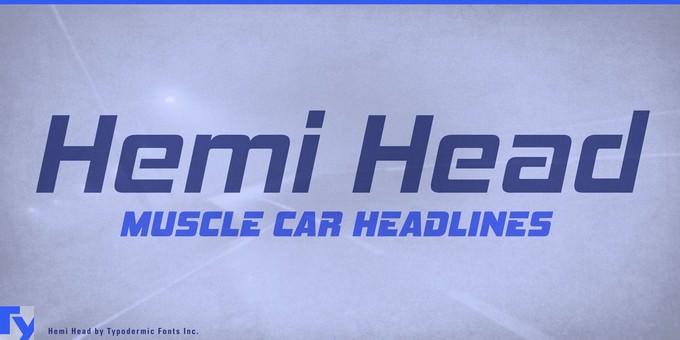 Hemi Head Techno Font