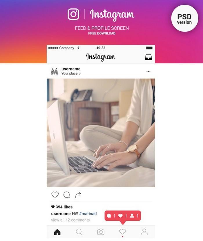 Instagram Feed & Profile Mockup