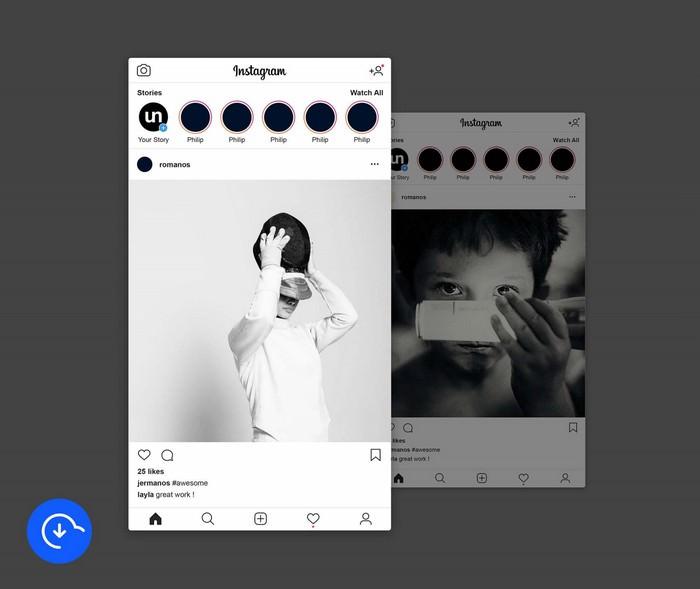 Instagram Post Mockup PSD