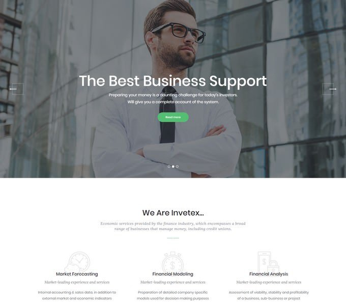 Invetex - Accounting Site Template