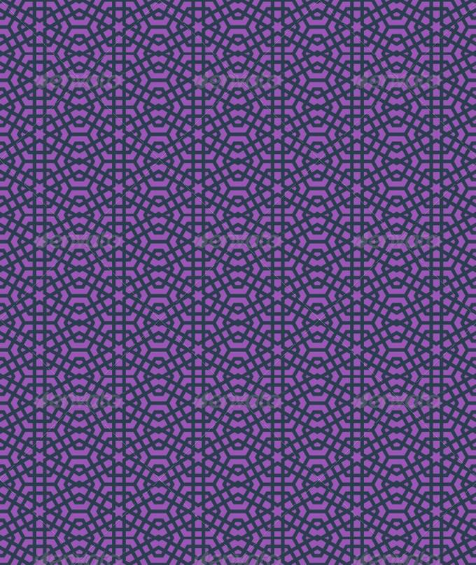 Islamic Star Pattern - Purple