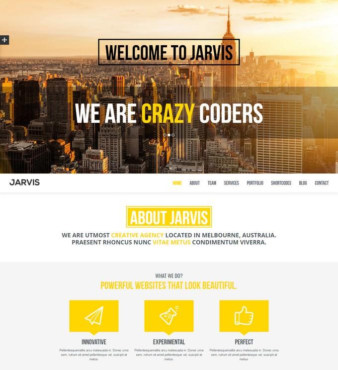 Jarvis - Onepage Parallax Theme