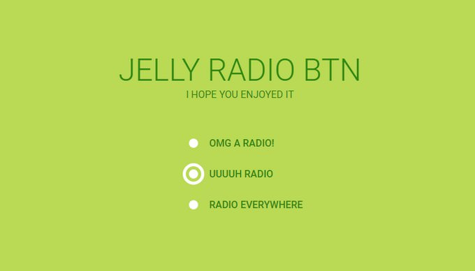 Jelly Radio Button