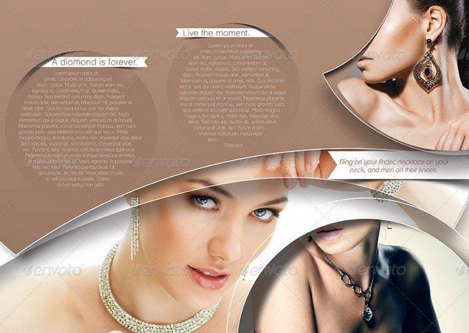 Jewelry Shop Trifold Brochure Template