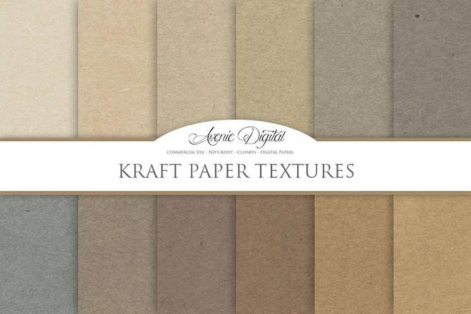Kraft Paper Background Textures