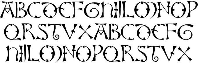 Lisbjerg Viking Style Font