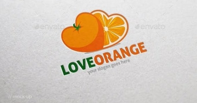 Lovely Orange Logo Template
