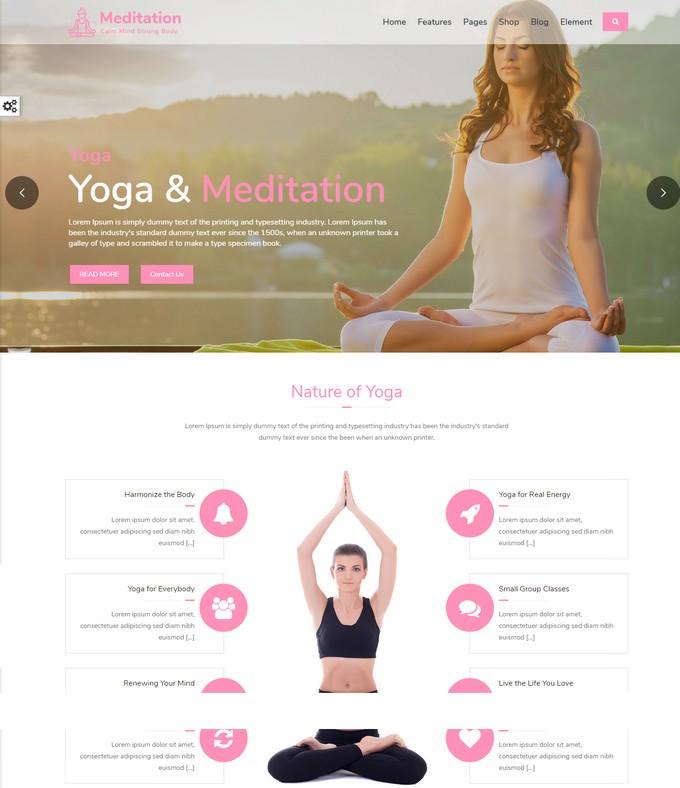 Meditation - Yoga Responsive Bootstrap HTML Website Template
