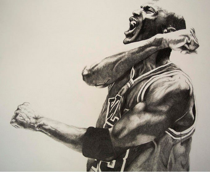 Michael Jordan Basketball Player Drawing