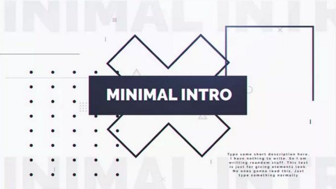 Minimal Intro Template