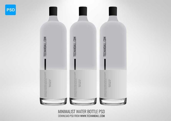 Minimalist Water Bottle Mockup