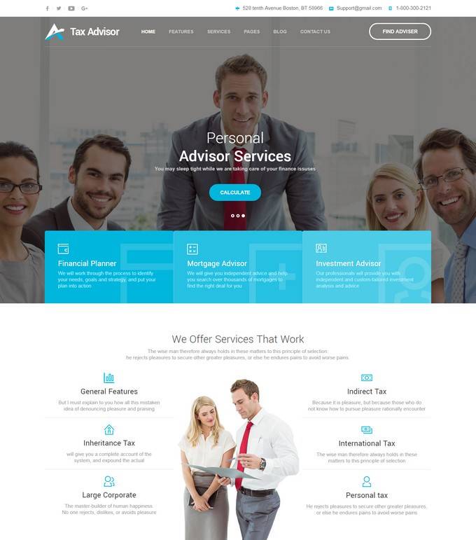 Mortgage - Financial HTML Template