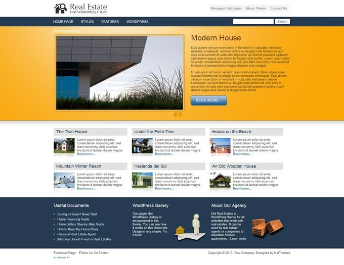 Mortgage Hot Real Estate Theme
