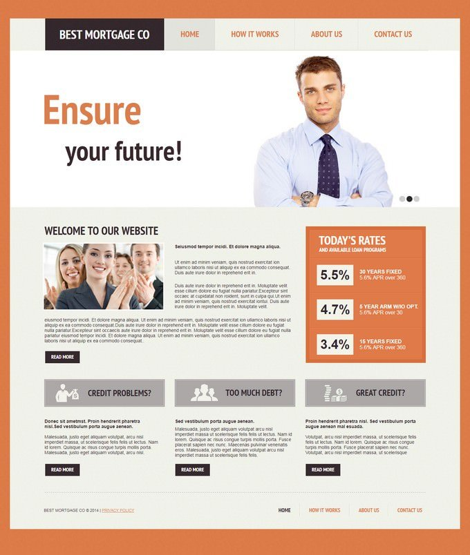 Mortgage Moto CMS HTML Template