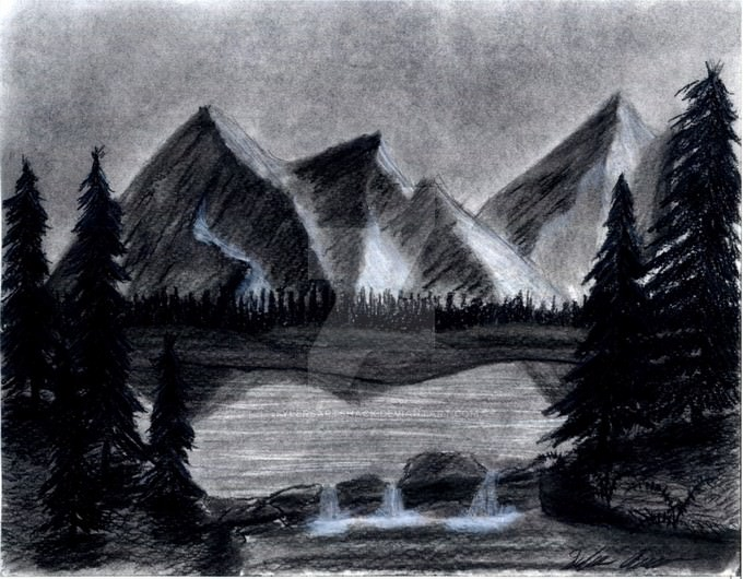 Mountain Drawing # 2