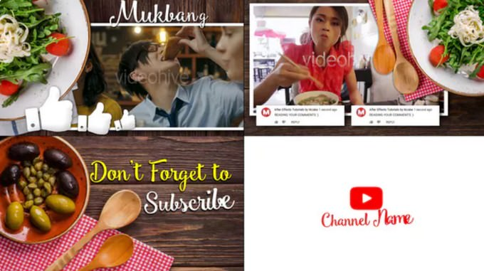 Mukbang Food Youtube Intro