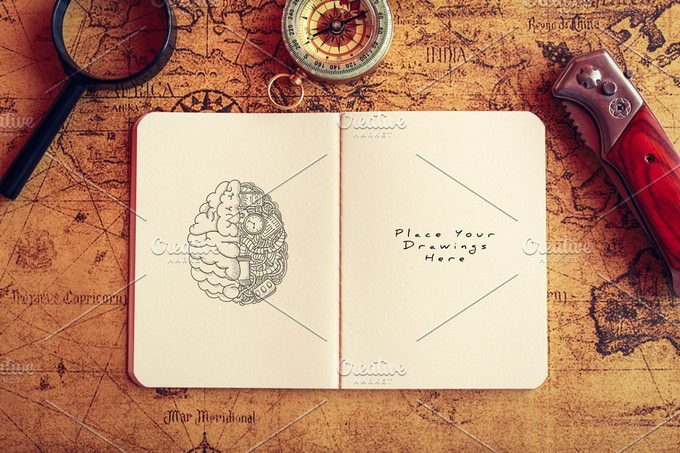 Notebook Diary Mock-up#2