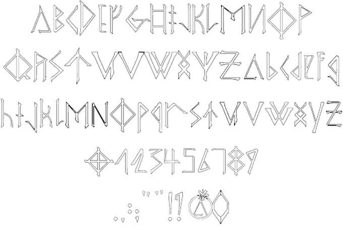 Odins Spear Viking Style Font