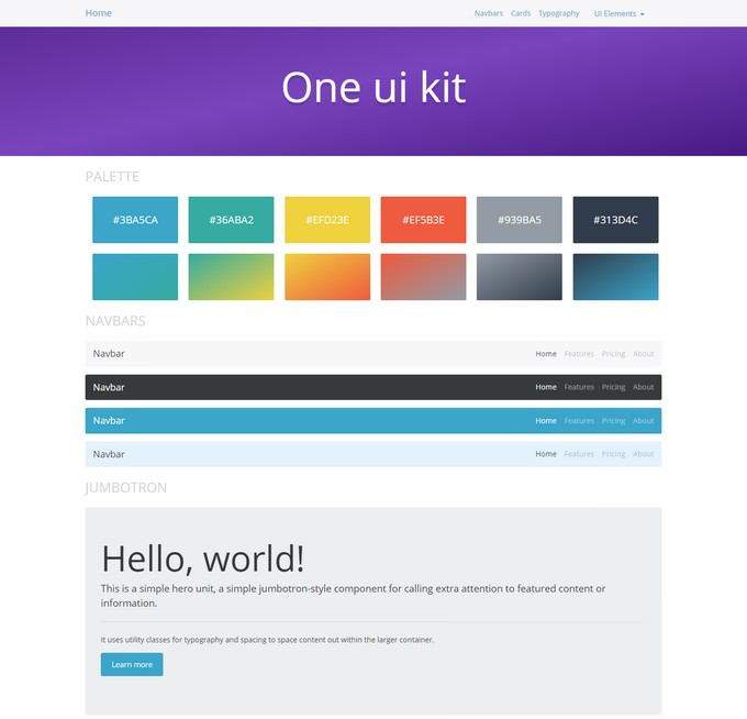 One Bootstrap 4 UI Kit