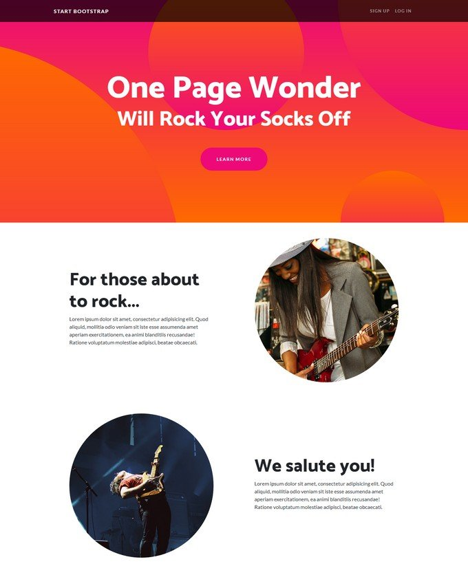 One Page Wonder
