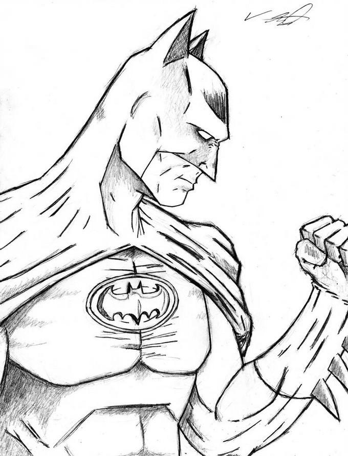 Original Batman - lines Drawing Free Download