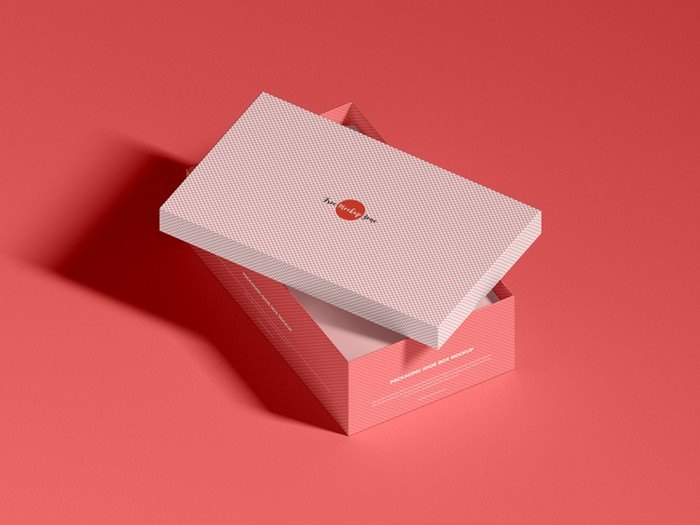 Packaging Shoe Box Mockup