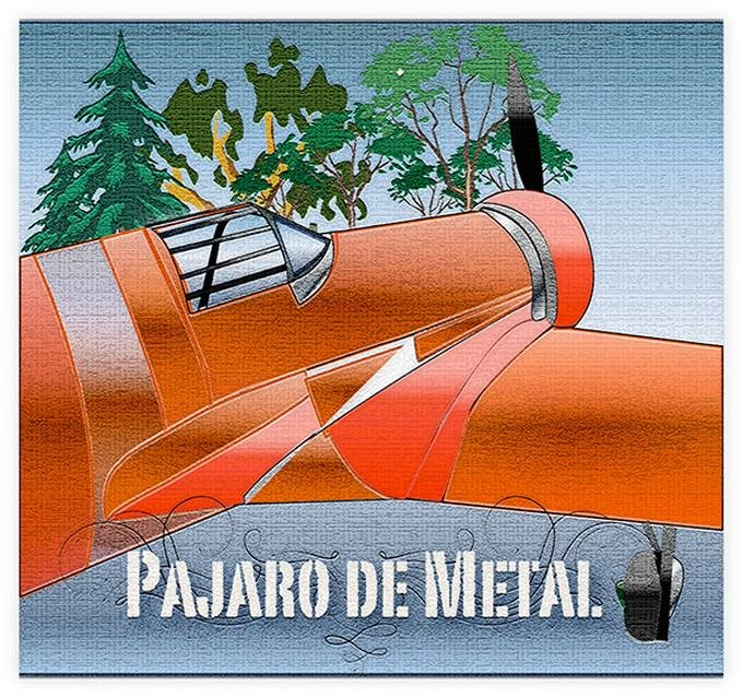 Pajaro De Metal Airplane Drawing