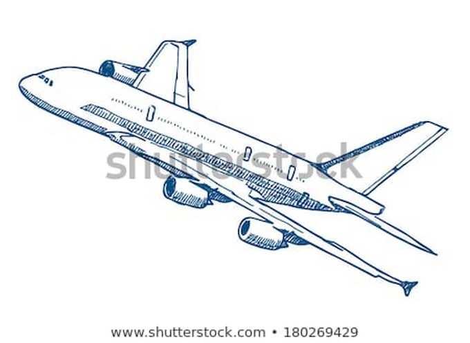 Passenger Airplane Drawing