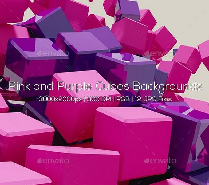 Pink and Purple Cubes Backgrounds