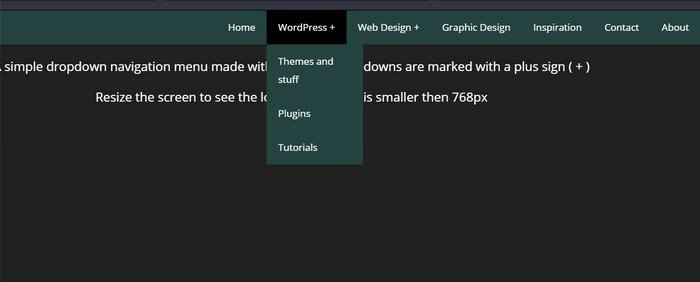 Pure CSS Responsive Dropdown Menu