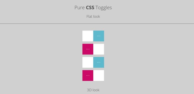 Pure CSS Toggles