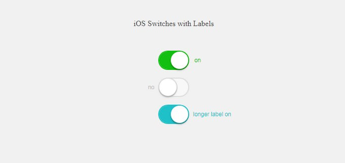 Pure CSS iOS Style Switches with Labels