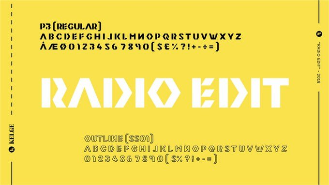 Radio Edit Viking Style Font