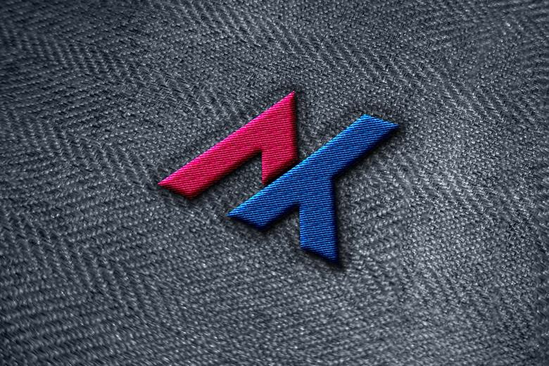 Realistic Embroidery logo mockup