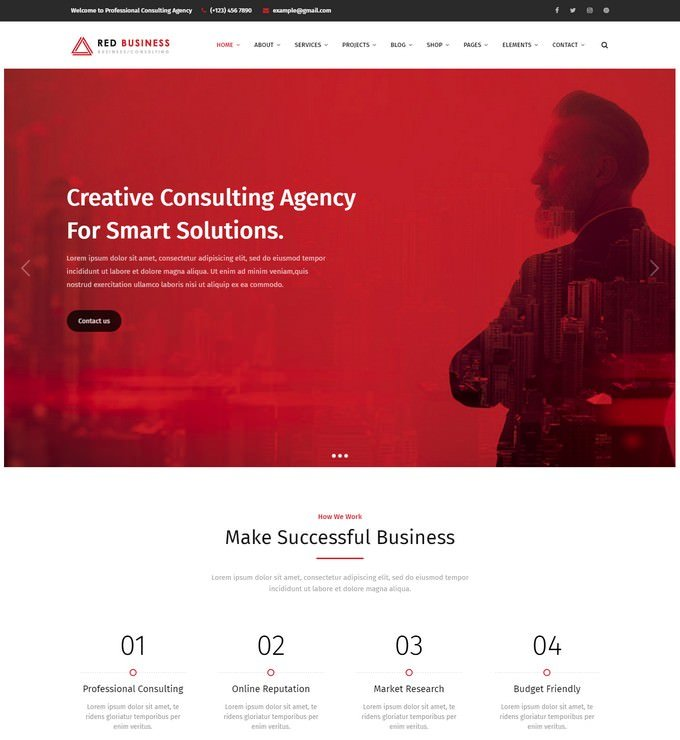 RedBiz - Finance & Consulting Multi-Purpose WordPress Theme