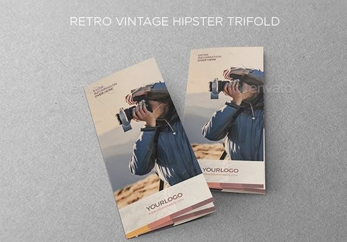 Retro Vintage Hipster Trifold