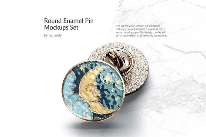 Round Enamel Pin