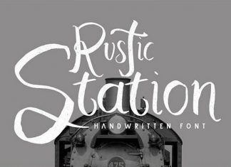 Rustic Station Typeface