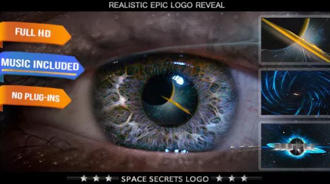 Sci-Fi Space Science Logo Intro Template