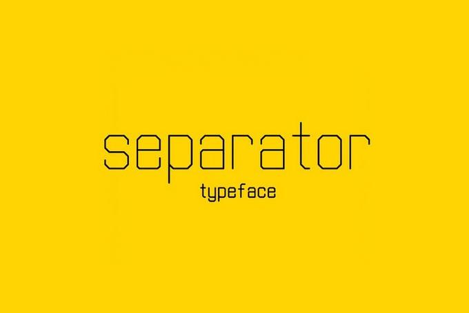 Separator Typeface