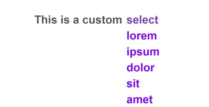 Simple Custom Select