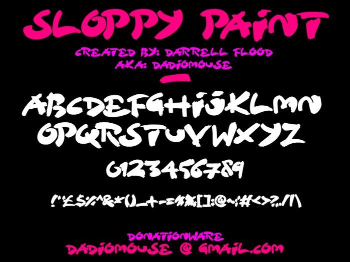 Sloppy Paint Font